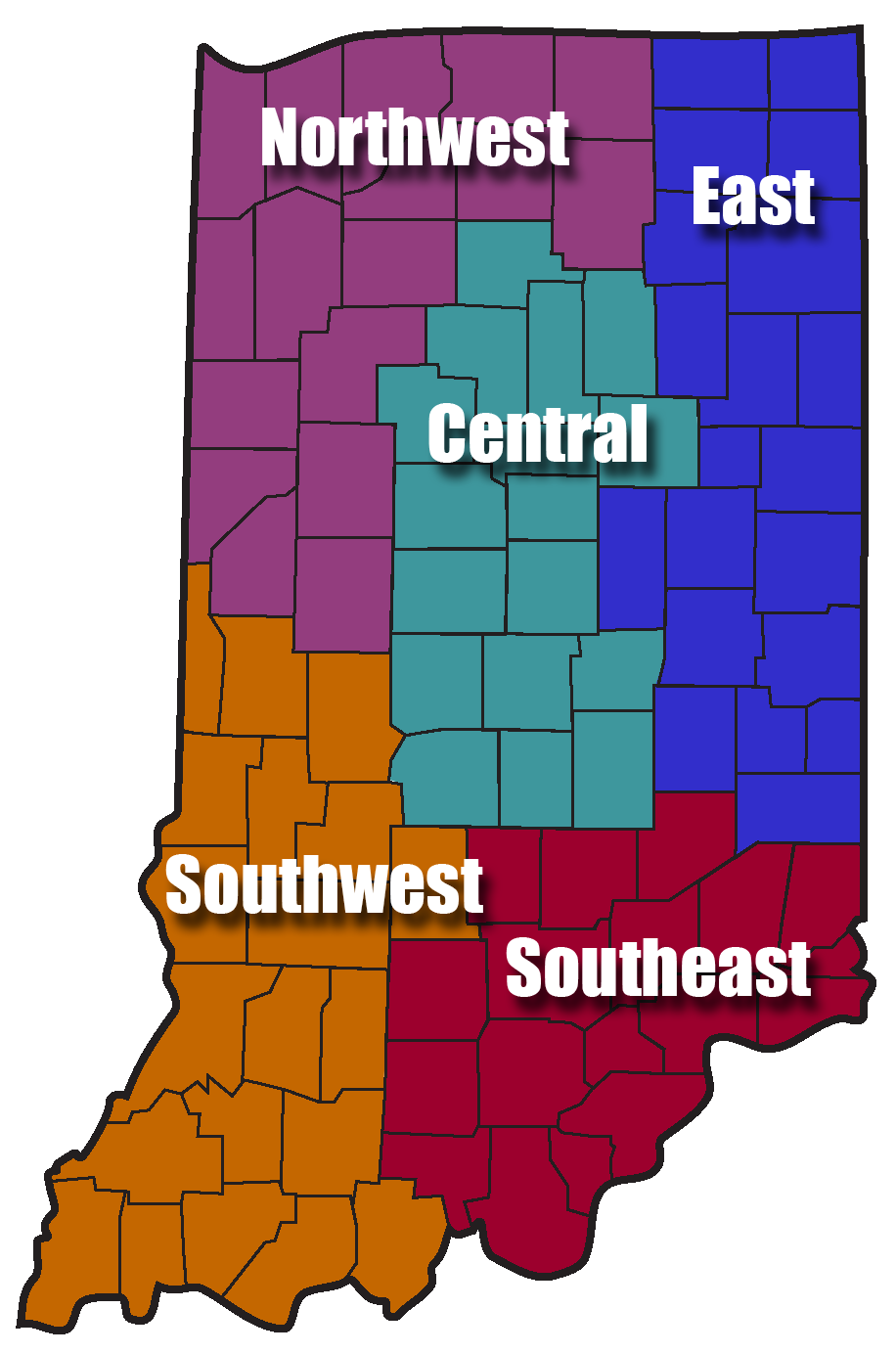 Region Map of Indiana